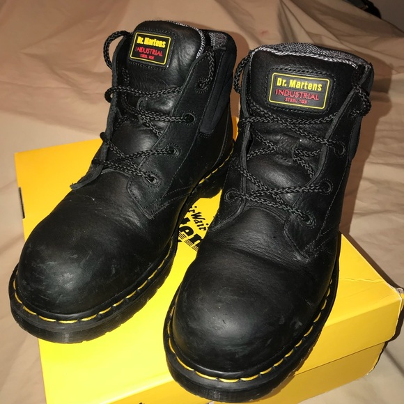 6fec3827c50 Dr. Martins industrial bear suede steel toe boot